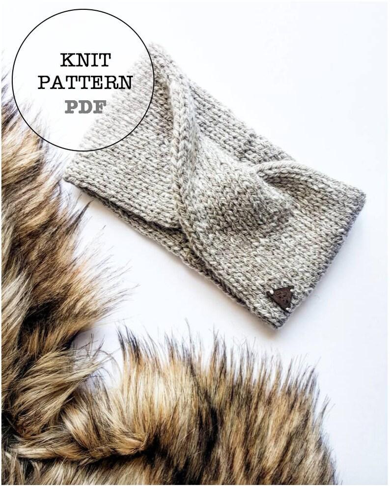 98c645eac81 Knitting Pattern   Willow Headband Knitting Pattern
