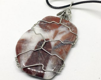 Quartzite Wire Wrap Necklace, Metaphysical, Crystal Healing, Energy Healing, Wiccan, Wicca, New Age, Reiki, Healing Stones,  Witchcraft