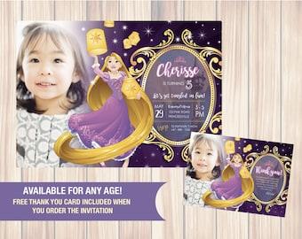 Rapunzel Tangled Invitation - Rapunzel Tangled Birthday Party Invitation - Rapunzel Printale - Rapunzel Invitation - Tangled Inv