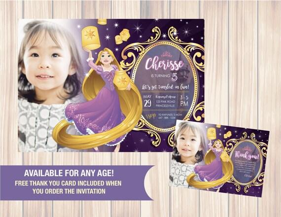 Rapunzel tangled invitation rapunzel tangled birthday party etsy image 0 filmwisefo