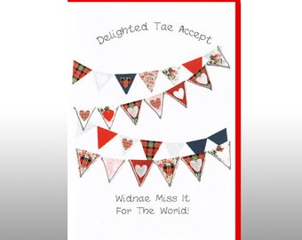 Acceptance Hearts Bunting Card WWWE44