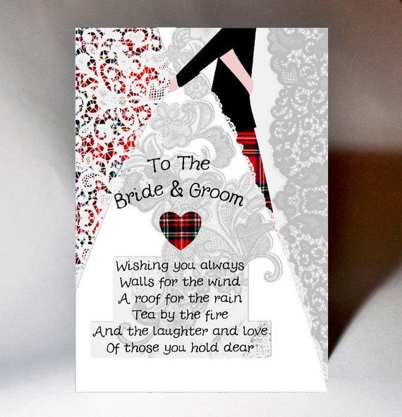 Hochzeit Braut Und Bräutigam Gedicht Karte Wwwe81