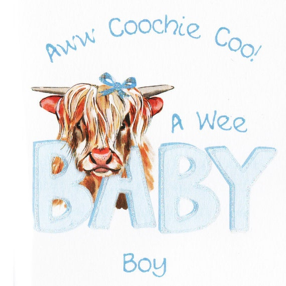 New Baby Card Coochie Coo Boy WWBA34