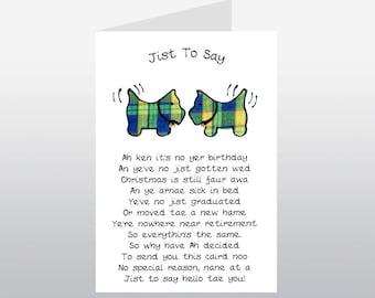 Scottish Greeting Card Tartan Scotties WWGR01