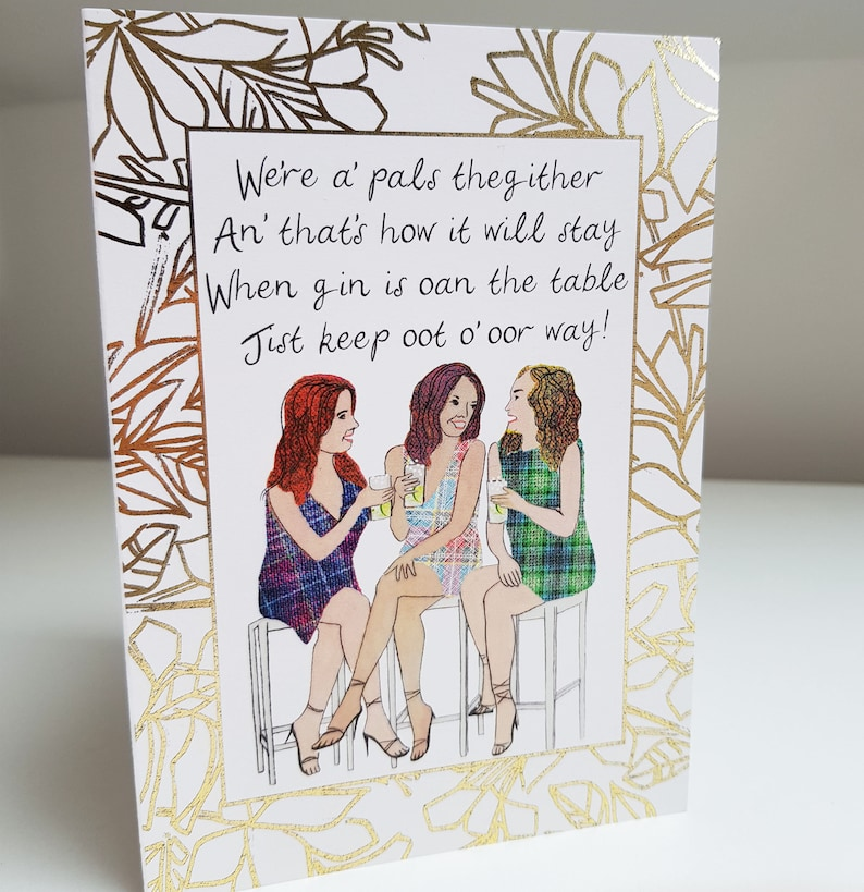 Special Friend Gin/'s Oan the Table Card