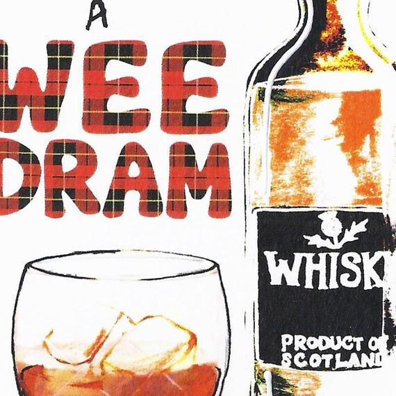 Szkocka Karta Urodzinowa Wee Drama Wwbi77 Etsy