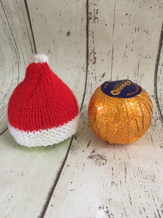 3 Christmas Chocolate Orange covers knitting pattern Xmas Pudding Candle /& Cake