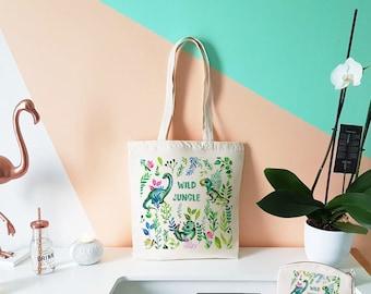 Organic Tote Bag. Dinosaurs