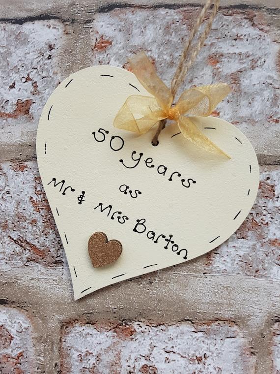 Personalised 50th Wedding Anniversary Gift Golden Wedding
