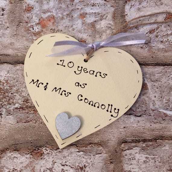 Personalised wedding anniversary heart