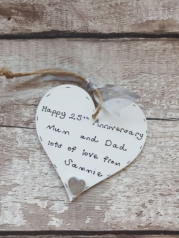 25th Wedding Anniversary Gift Personalised 25th Anniversary Etsy