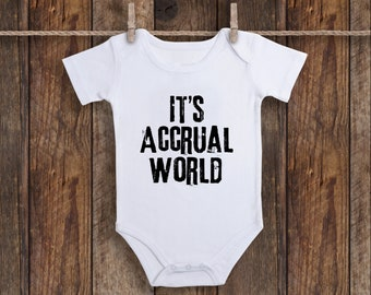 c50d8a5d It's Accrual World Accountant Onesie, Accounting Baby Clothes, Funny Baby  Clothes, Baby Shower Gift, Finance Baby Gift Tax Deduction Baby