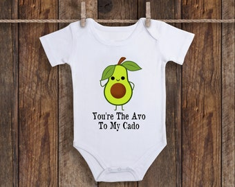 ef30fb104 Avocado Onesie, You're The Avo To My Cado Love Onesie Fruit Baby Clothes,  Vegan Baby Gifts, Vegetable Baby Shower, Avocuddle Bodysuit