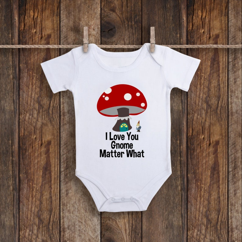 715fca2c6d61 Gnome Onesie Gnome Baby Clothes Love Baby Outfit Love Baby