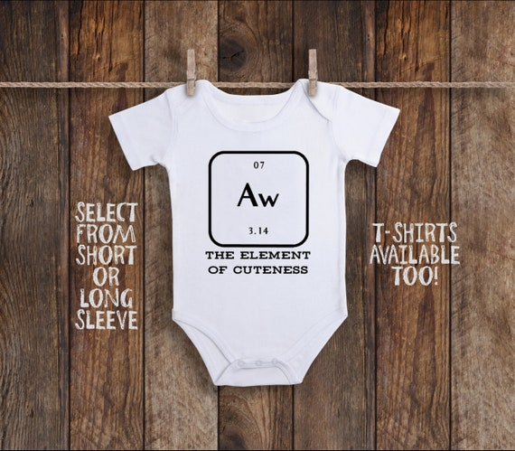 Periodic Table Onesie Nerdy Baby Clothes Nerd Baby Clothes Etsy