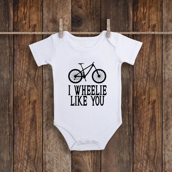 22dde67d6 Bike Onesie, Bicycle Baby Shower, Cute Baby Clothes, Baby Girl Outfit, Baby  Boy Gift, I Wheelie Love You, I Wheelie Like You, Adventure Time