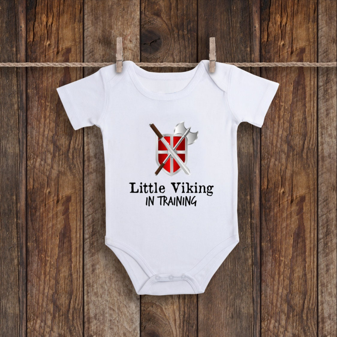 1b0839c62 Little Viking Onesie In Training Funny Baby Clothes Funny | Etsy