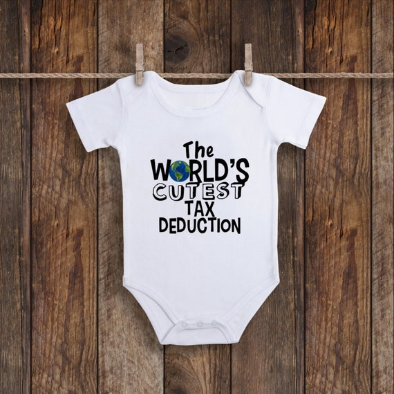 7ff9e4cd44388 The World's Cutest Tax Deduction Onesie, Accountant Onesie, Accounting Baby  Clothes, Funny Baby Clothes, Baby Shower Gift, Finance Baby Gift