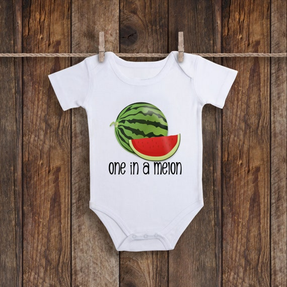 9a04f8e90 Watermelon Onesie Melon Baby Clothes One in a Melon Baby | Etsy
