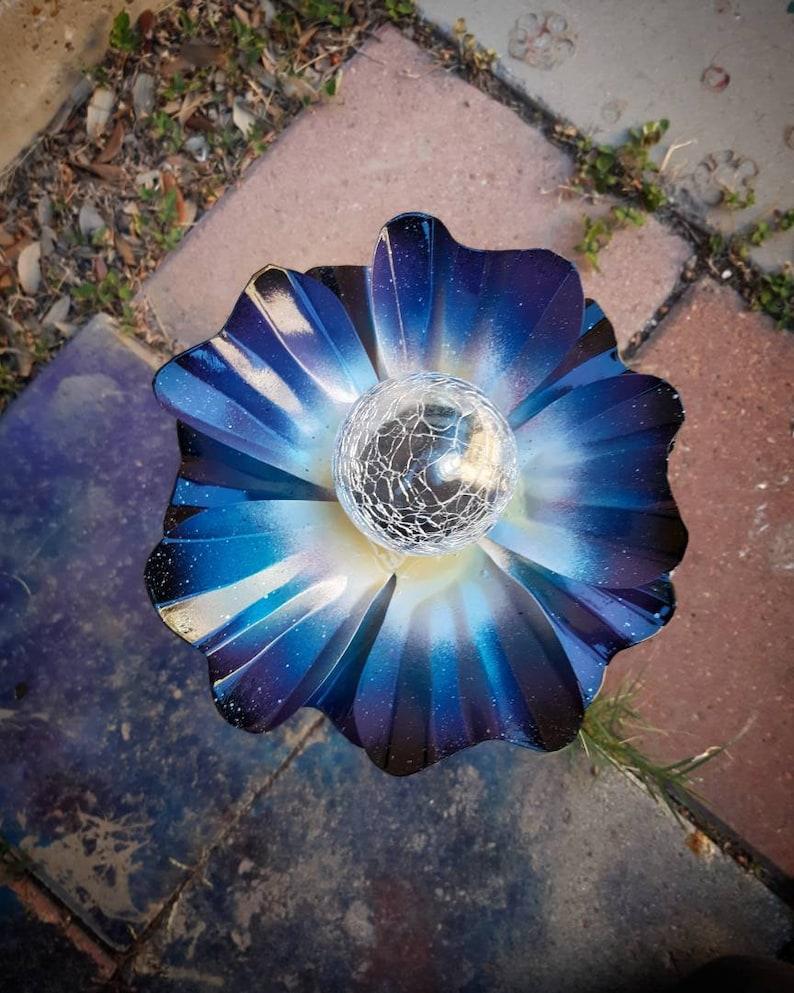 Metal Flower Solar Light  Metal Garden Art  Metal Art image 0