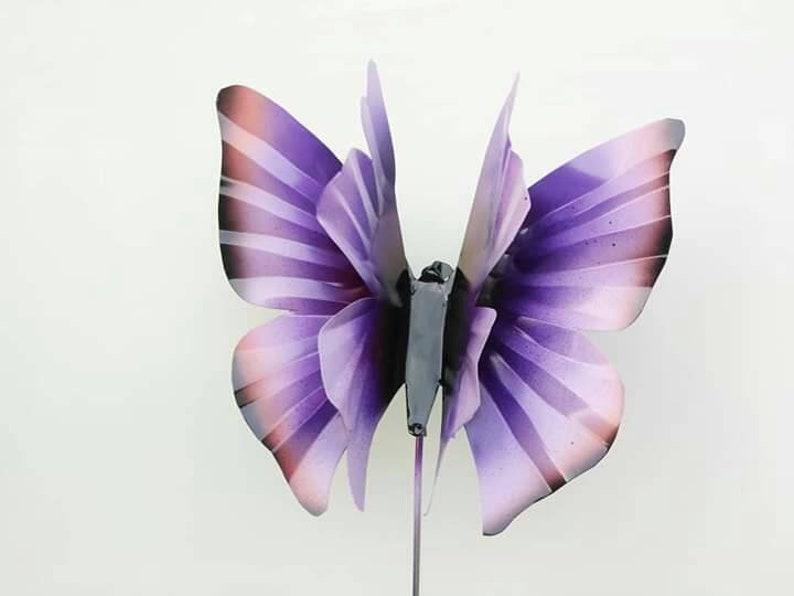 Metal butterfly garden stake Purple Butterfly Garden Stake image 0