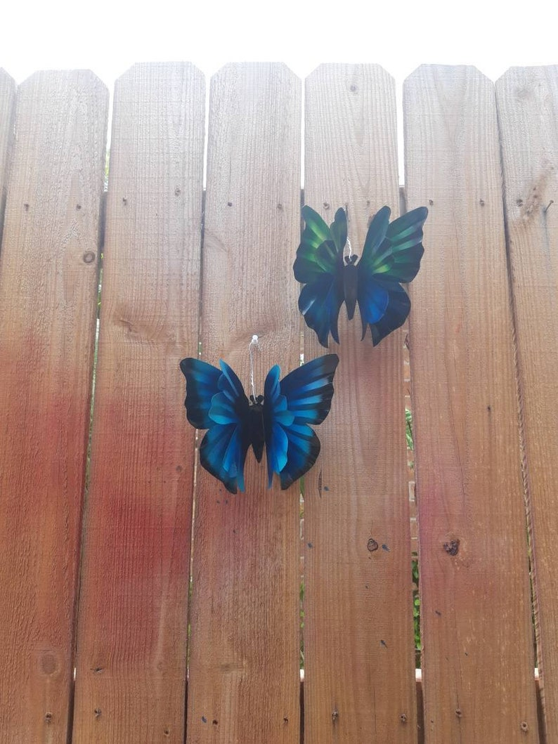 Fence Butterfly Wall Decor Butterfly Garden Art  Individual image 0
