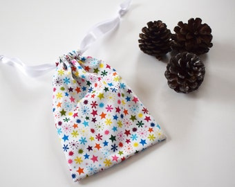 06fb661a65 Small Rainbow Snowflake Christmas Gift Bag