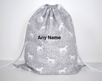 SQUIRREL PERSONALISED GYM GREAT GIFT /& NAMED TOO SWIMMING PE// DANCE BAG