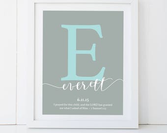 """Baby Initial 8x10"""" Poster 