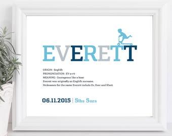 Baby Name art, Downloadable , Personalization, Digital download PDF