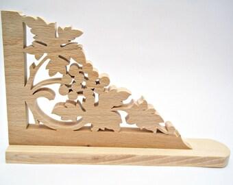 Wooden Shelf Brackets Wood Corbels Victorian Handmade Grapes
