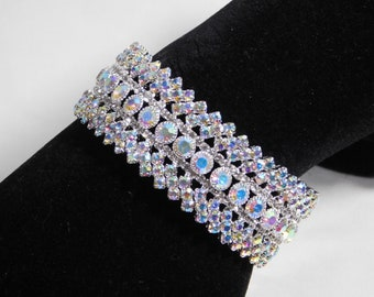 Bracelet Or Foot Anklet E.N.S Silver AB Rhinestone Butterfly Bridal Party Upper Arm