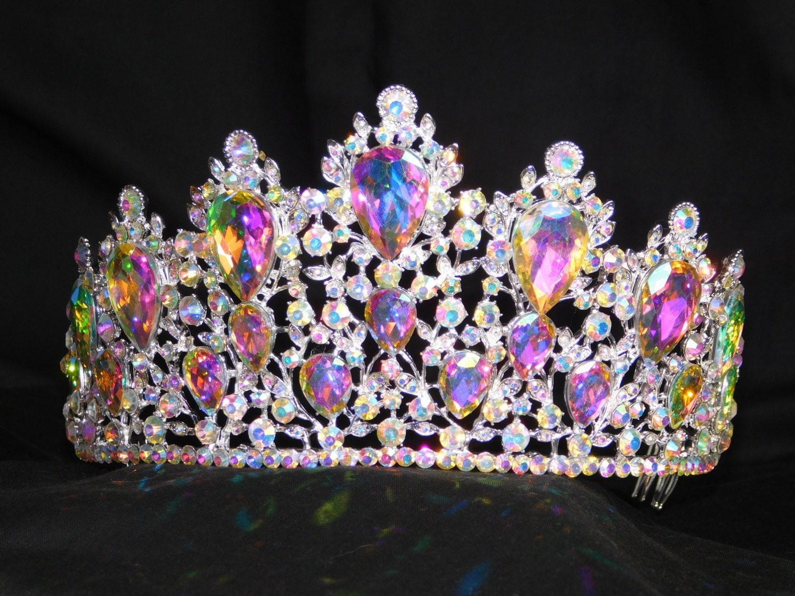 Jewelry & Watches Original Wedding Bride Tiera Large Rhinestones Silver