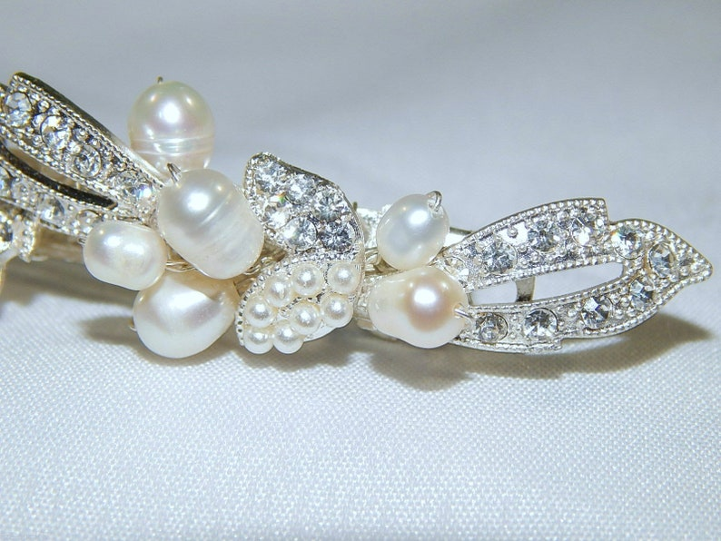 Rhinestone Wedding Hair Clip 3102 Brand New Stunning Bridal Freshwater Pearl