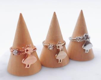Alice in Wonderland ring; Alice in Wonderland accessories; Alice ring; Rose gold ring; Alice in Wonderland; Cute; Kawaii