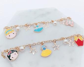 Tsum Tsum bell Bracelet; Cinderella Bracelet; Snow White Bracelet; Princess Bracelet