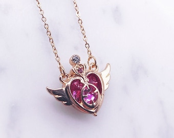 Sailor Moon necklace; Sailor Moon accessories; Sailor Moon; Anime; Japanese cartoon; Princess necklace; shiny crystal; Crystal necklace