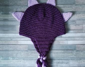 Dinosaur Beanie >> Crochet Beanie, Spike Beanie, Twist Beanie, Girls Beanie, Winter Hat, Gift, Birthday, Adult Beanie, Baby Girl Hat