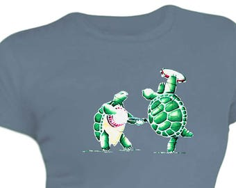 9f8a43159fc Grateful Dead Women s T-shirt Terrapin Station Turtles  100% Cotton Juniors  sizing