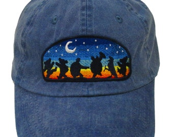 Grateful Dead Hat- Moondance Embroidered Baseball Cap   hat  Dead and  Company  Dancing Bears   Terrapin Turtles 56088f5f192