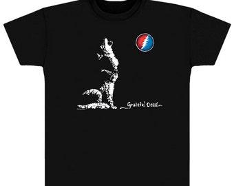 a9d671132d63 Grateful Dead T-Shirt- Howling Wolf T Shirt/ Dire Wolf, Steal Your Face /  Stealie/ 13 point lightning bolt/