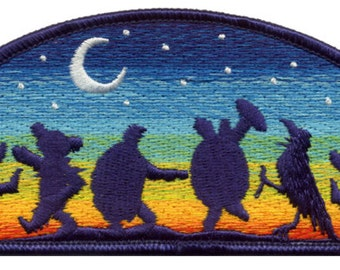 73604bf17d1 Grateful Dead Patch- Moondance 100% Embroidered Patch  Terrapin Turtles   Dancing Bears  Dead and Company