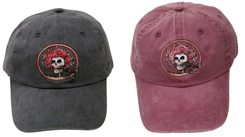 Grateful Dead Hat Skull and Roses Embroidered Baseball Cap   2f12342a2c57
