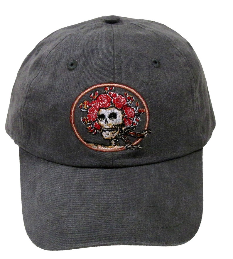b5cdec4c8b7 Grateful Dead Hat Skull and Roses Embroidered Baseball Cap