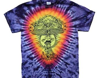 Shroomer! Grateful Dead inspired Tie Dyed T-shirt