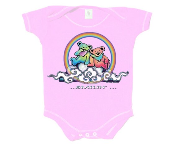 Grateful Dead Baby Bodysuit Shirt Not Like Other Girls Stealy Baby Shower Gift