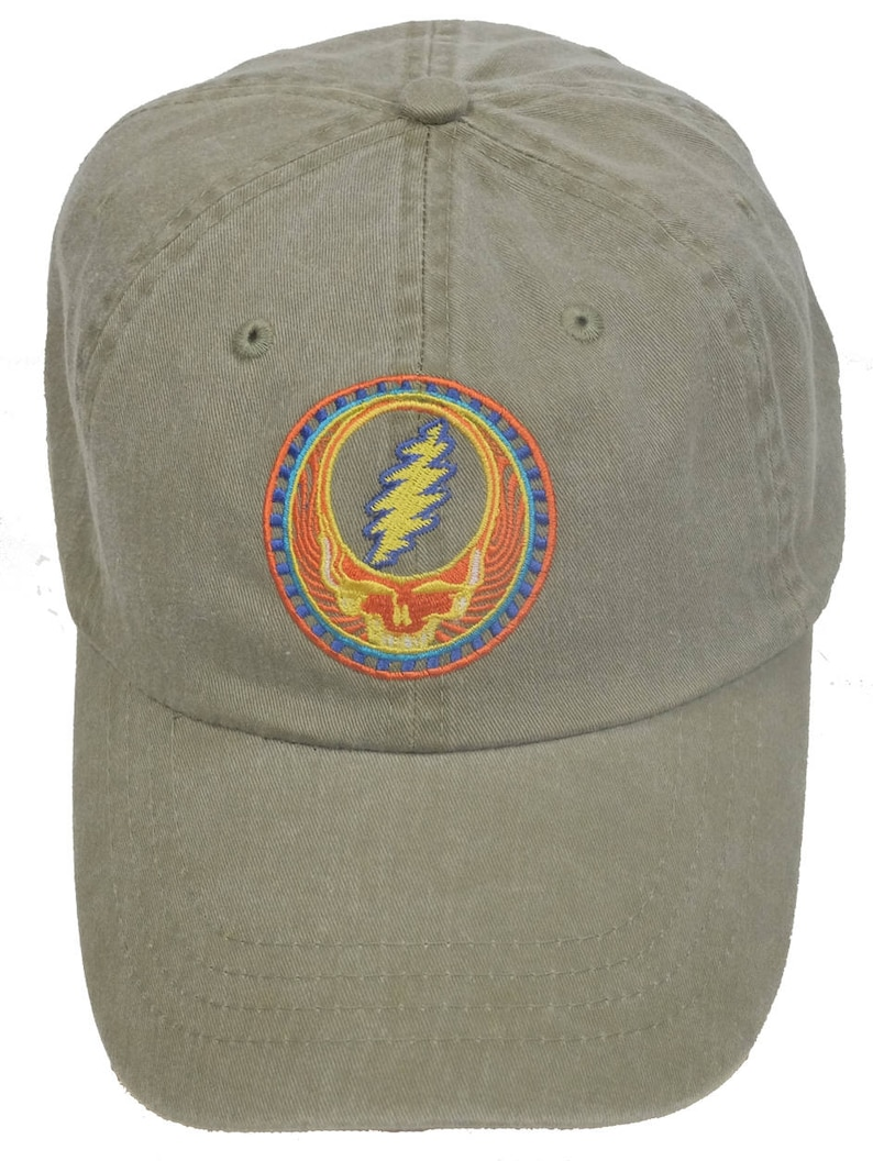 Grateful Dead Hat Orange Sunshine Stealie Embroidered  a315011e2fce
