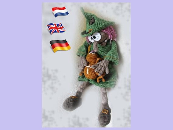 Häkelanleitung Hexe Hazelamigurumi Puppe Häkelanleitung Etsy