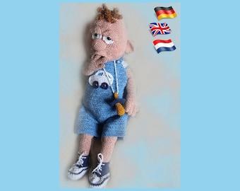 Baby-Boy, Amigurumi doll crochet pattern, crocheted dolls pattern, amigurumi PDF pattern, Instant download