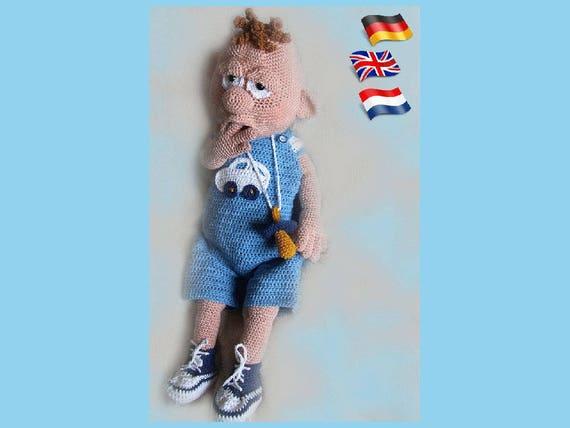 Baby-Boy Amigurumi Puppe Häkelanleitung gehäkelte Puppen | Etsy